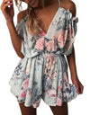 Women Off Shoulder V-Neck Rompers - xanders-shopping