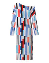Women Stripe Long Dress - xanders-shopping