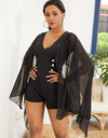 V-Neck Bat Sleeve Summer Romper - xanders-shopping