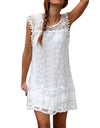 White Dress Women Sleeveless Beach - xanders-shopping