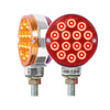 "Red/Amber 3"" Round Double Face Spyder Turn Signal Light"