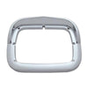 Single Rectangle Headlight Bezel with Visor