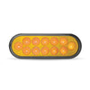 "Trux Amber Anodized 6"" Oval Light"