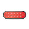 "Trux Red Anodized 6"" Oval Light"