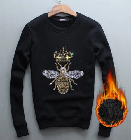 Men Spring Autumn Hot Streetwear Sweatshirts Cotton Diamond design Pullover