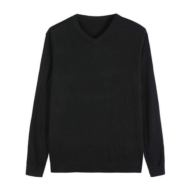 14-Color Autumn Knitted Pullover Cashmere Casual Business V-Collar Thin Slim fit Sweater