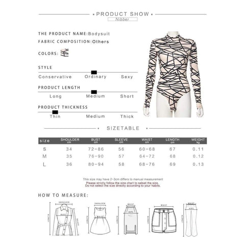 Autumn Printing Basic Stretch Slim Bodysuits Women Fall Winter Street Leisure Thin Long Sleeve Jumpsuit