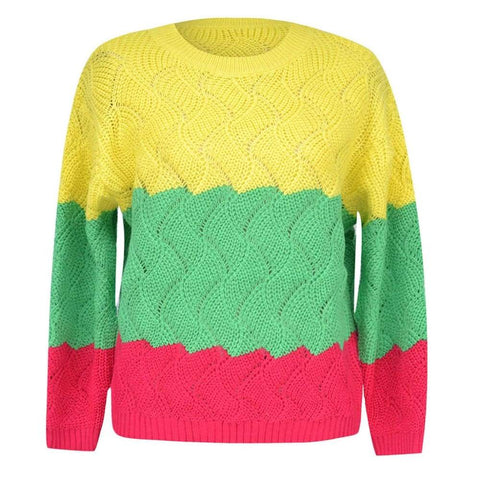 Autumn Winter Casual Knitwear Slim Fit Long Sleeve Stripe O-neck Knitted Sweater
