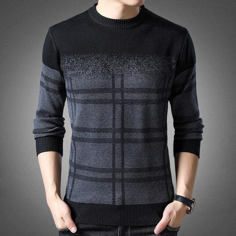 Brand Pullover Thick Slim Fit Knitwear Woolen Winter Mens Sweater