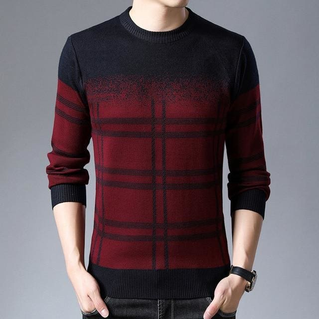 Brand Pullover Thick Slim Fit Knitwear Woolen Winter Men's Sweater - Moolokai Apparel