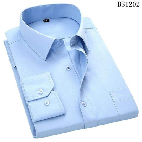 Business Casual Long Sleeved Classic Male Social Dress Shirts