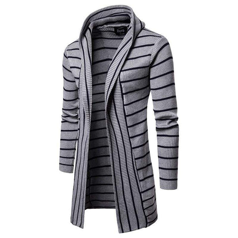 Casual Keep Warm Knitwear Coat Slim Hooded Neck Knitted Cardigan Sweater