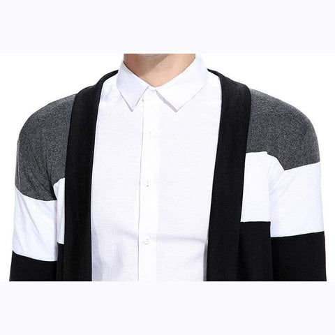 Casual Knitwear Sweater Cardigan Spring Style Personality Patchwork Color Knitwear