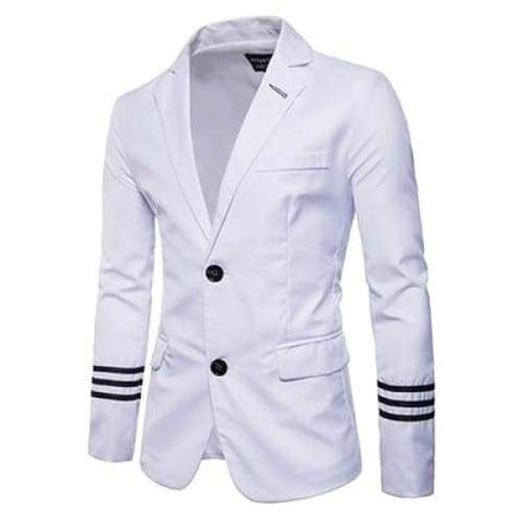 Casual Men Suits College Style Striped Design Men's Slim Fit Masculine Blazer