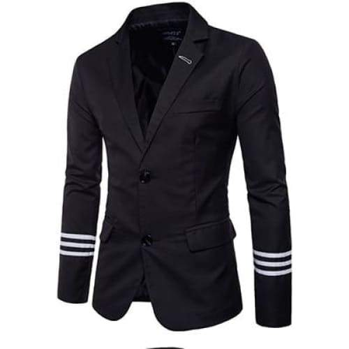 Casual Men Suits College Style Striped Design Men's Slim Fit Masculine Blazer - Moolokai Apparel