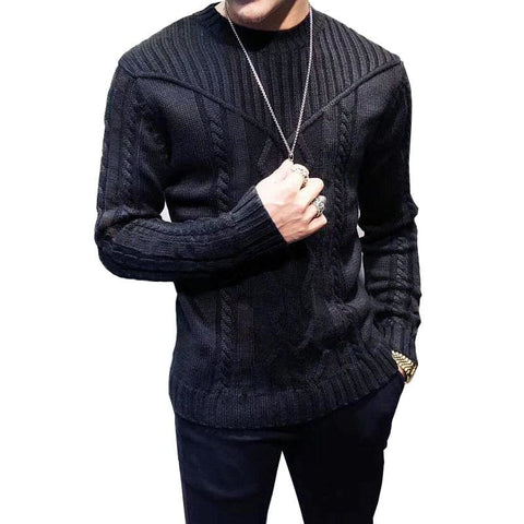 Casual Pullovers Knitted Mens Long-Sleeved Autumn Winter Men's Sweater - Moolokai Apparel