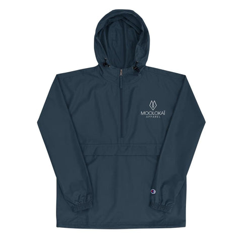 Moolokai Apparel Embroidered Champion Packable Jacket