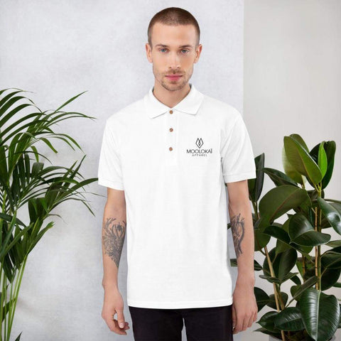 Moolokai Apparel Embroidered Polo Shirt-Custom-Moolokai Apparel-White-S-Moolokai Apparel