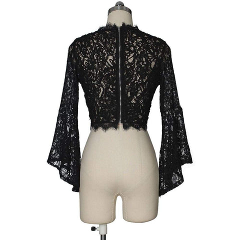 Embroidery Lace Women s Wear Short Long Sleeve Hollow Shirt