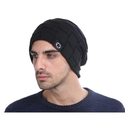 Fleece Lined Knit Wool Warm Winter Thick Soft Stretch Fashion Skullies & Beanie Hat