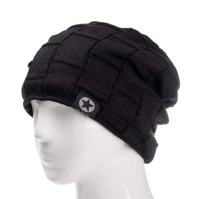 Fleece Lined Knit Wool Warm Winter Thick Soft Stretch Fashion Skullies & Beanie Hat - Moolokai Apparel