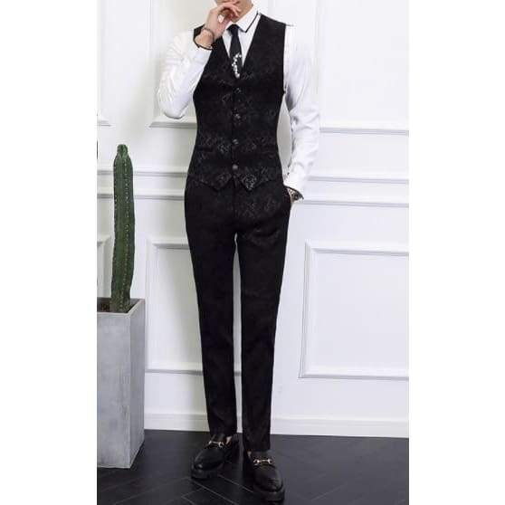 High-end Men Business Banquet Wedding Jacket with Vest and Trousers Suit - Moolokai Apparel
