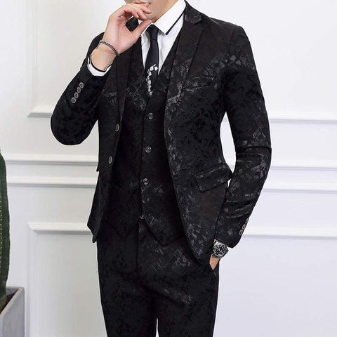 High-end Men Business Banquet Wedding Jacket with Vest and Trousers Suit / business men suits