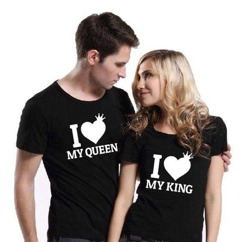 I Love My King I Love My Queen Couple King & Queen Matching Couples T Shirt
