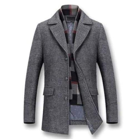 iSurvivor Winter Thick Wool Male Casual Fashion Slim Fit Large Size Nylon Jaqueta Outwear Jacket
