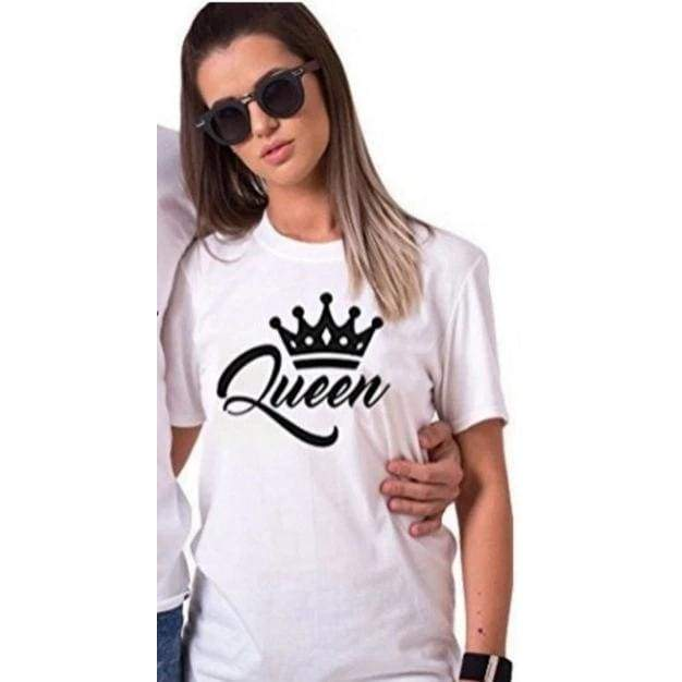 King & Queen Couples T Shirt Crown O-neck Tops Lovers Tee Shirt - Moolokai Apparel