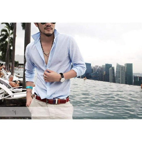 Linen Men Shirt Long Sleeve Summer Style Hawaiian Sexy Slim Fit Mens Shirt