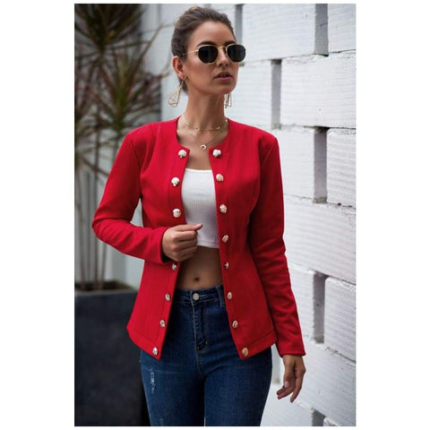 Long Sleeve Spring Autumn Blouson Femme Casual Office Outfit Work Cardigan