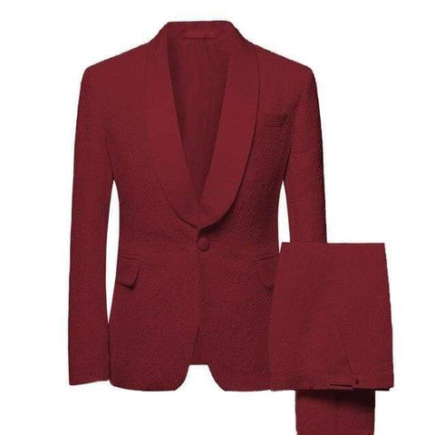Mens Shawl Collar 2 Pieces Slim Fit Groom Jacket Tuxedos Wedding (Blazer+Pants+Tie) Suit