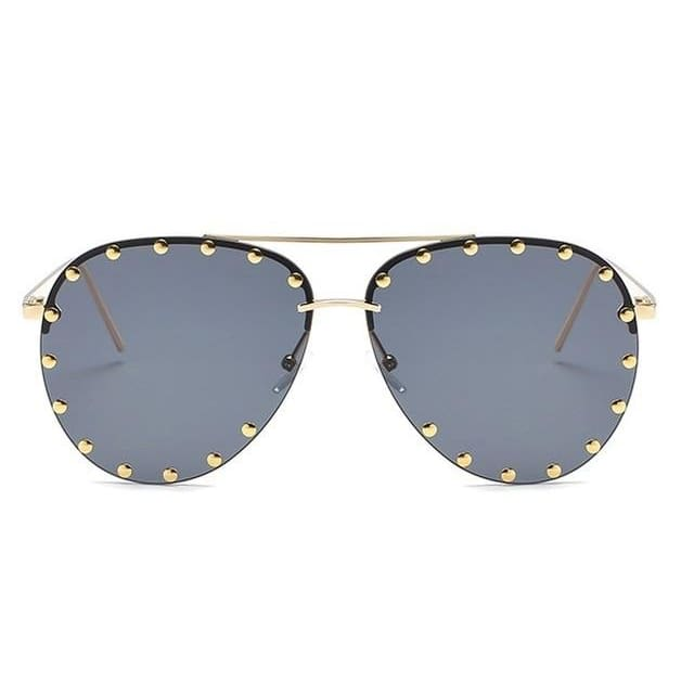 Metal Rivet Pilot Luxury Personality Rivet Eyewear UV400 Sunglasses - Moolokai Apparel