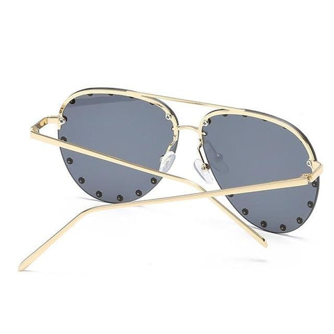 Metal Rivet Pilot Luxury Personality Rivet Eyewear UV400 Sunglasses