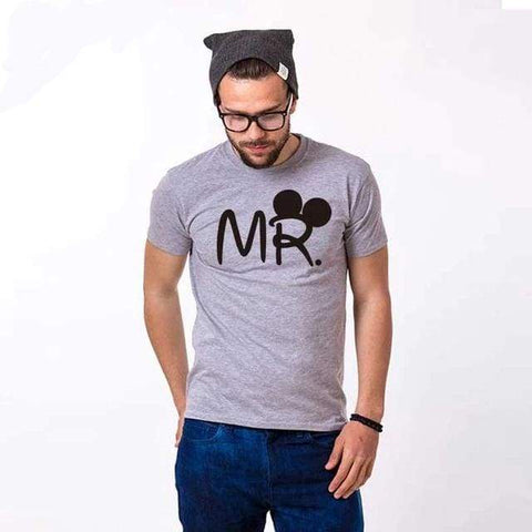 Mr Mrs couple T shirt for Lovers Husband Wife Clothes Matching Clothes Women Letter Love