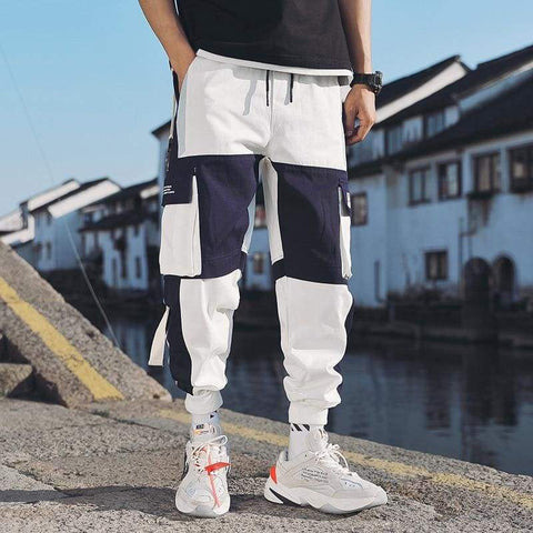 Multi Pockets Cargo Harem Hip Hop Casual Male Joggers Trouser Hipster Streetwear Jogger Pants - Moolokai Apparel