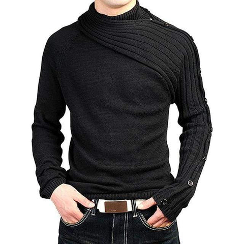Pollovers Brand Casual Slim Vogue Scarf Collar Thick Hedging Turtleneck Sweater