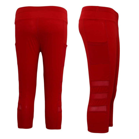 Self-Cultivation Slim Mesh Hidden Pocket Sports Fitness Leisure Quick-Drying Fitness Leggings Pants