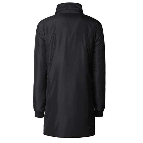 Slim Long Thick Cotton Padded Warm Hooded Metrosexual Mens Casual European Jacket
