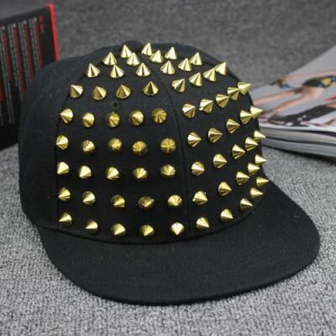 Spiked Rivet nail Handmade Snakeskin Leather Novelty Baseball Cap