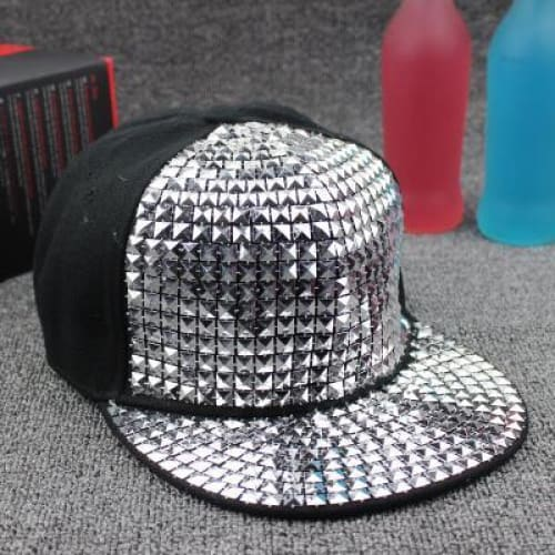 Spiked Rivet nail Handmade Snakeskin Leather Novelty Baseball Cap - Moolokai Apparel