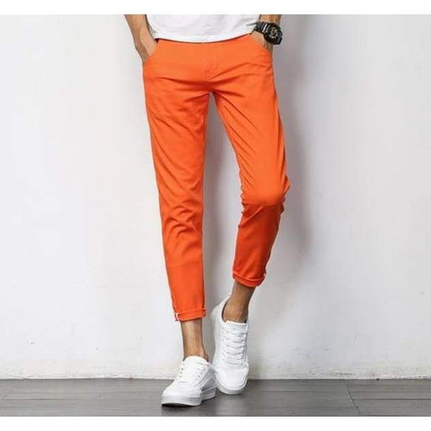 Spring Cotton Slim Pencil Pants Men Casual Long Haren Trousers Male Solid Pantalon Homme Pants - Moolokai Apparel