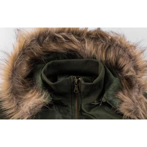 Thick Thermal Cotton Parka Faux Fur Warm Hoodies Tactical Jacket
