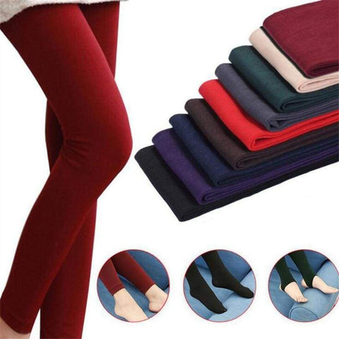 Winter Thick Brushed Lining Stretch Fleece Warm Trample Leggings