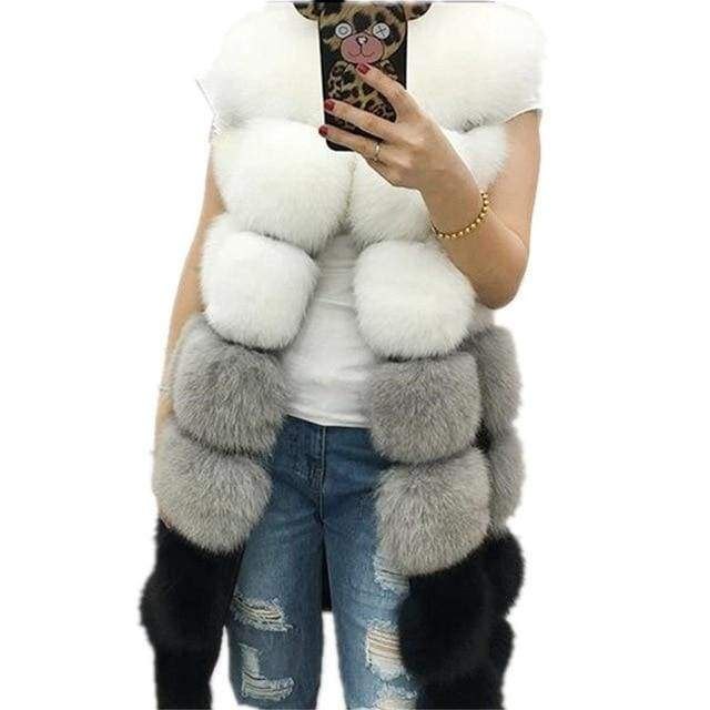 Winter Women's Fur Warm Long Vests Outerwear Coat Jacket - Moolokai Apparel