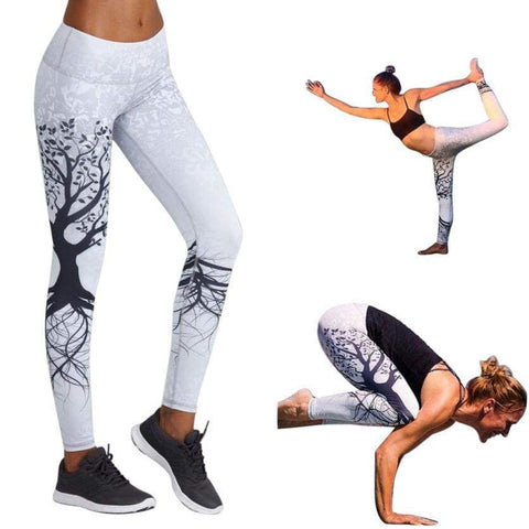 Women Printed Workout Fitness Exercise high waist Pants