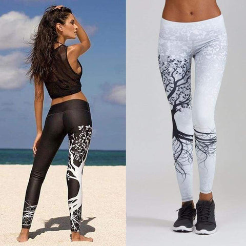 Women Printed Workout Fitness Exercise high waist Pants - Moolokai Apparel