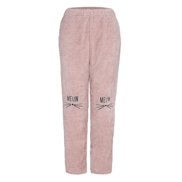 Women Winter Warm Harem Fashion Loose Thick Fleece Long Pant Graphic Sweatpants - Moolokai Apparel