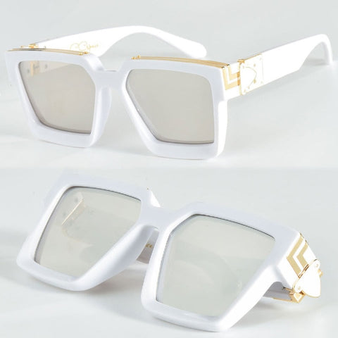 Square Luxury Mens UV400 Hollywood Glasses